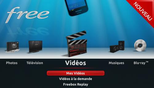 video a la demande sur free
