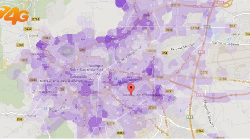 Couvertures et débits 4G Free Mobile de 10 nouvelles villes : de Brest à Metz et de Tours à Perpignan