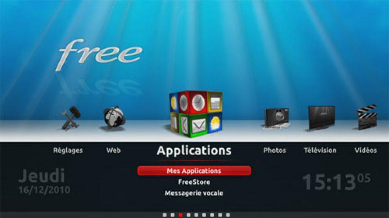 Free annonce le lancement des applications graphiques pour le Freebox Player