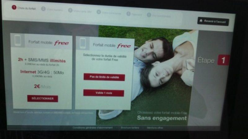 Bornes automatiques : Free Mobile propose des forfaits  'valides un mois'
