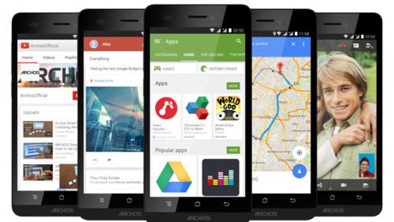 Free mobile : retour d'Archos avec un smartphone 4G à moins de 100 euros