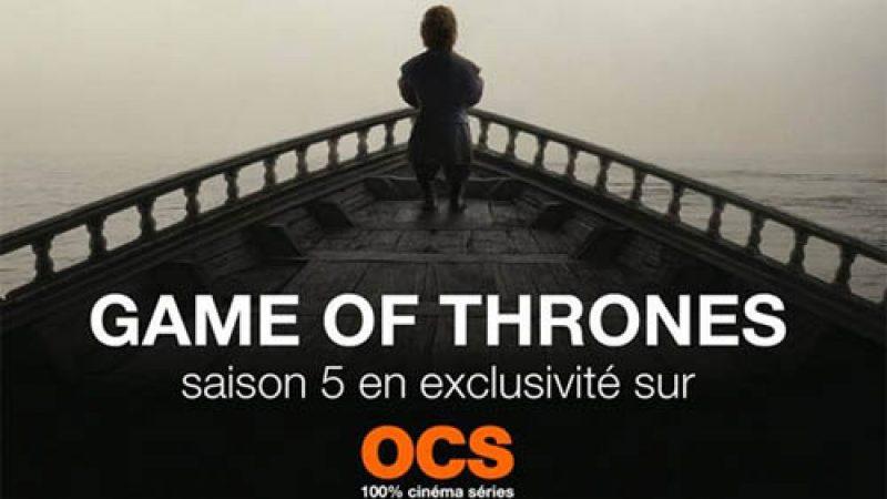 OCS s'offre en clair sur Freebox TV pour la saison 5 de Game of Thrones