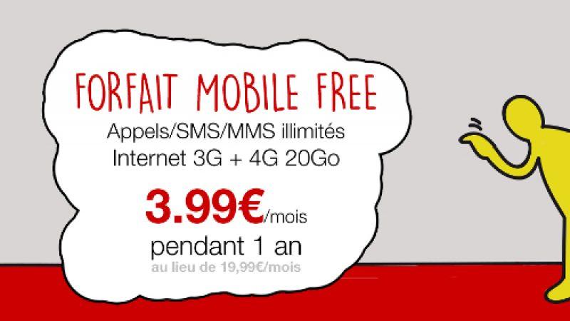 Vente-Privée de Free Mobile à 3.99 euros/mois pendant 1 an, c'est parti !