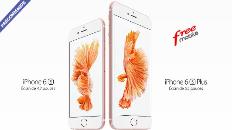 Free Mobile : les iPhones 6s et 6s Plus accessibles en précommande