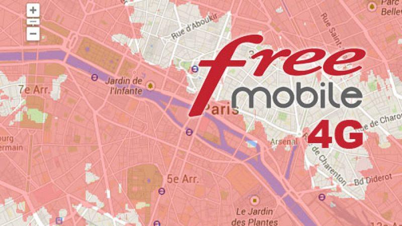 Free met à jour sa carte officielle de couverture 4G, 3G et 2G