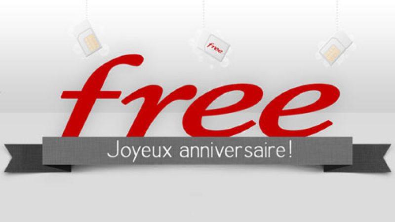 Joyeux anniversaire ! Free Mobile fête sa cinquième année d'existence