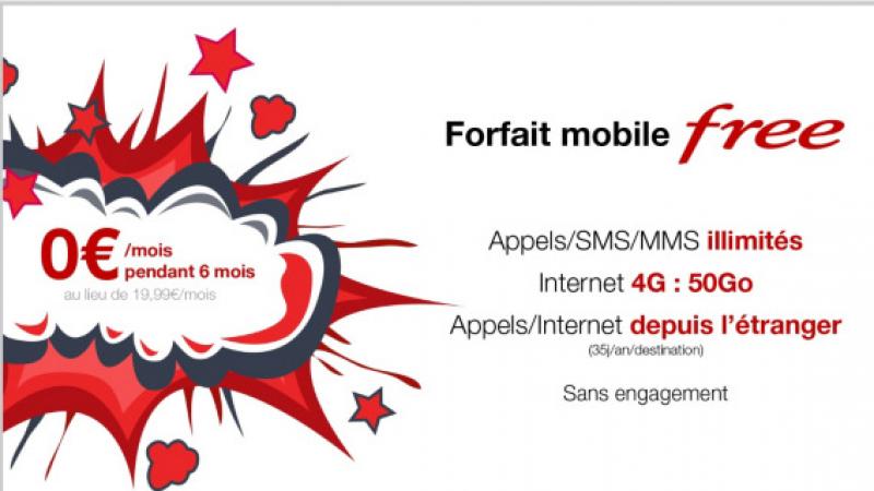 Free lance une nouvelle Vente Privée inédite, avec le forfait mobile 50Go à 0€