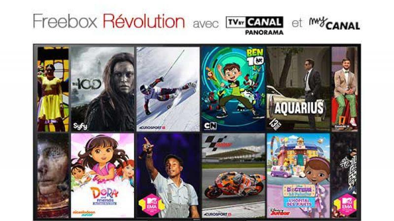 Free enrichit l'offre Freebox Révolution et TV by Canal