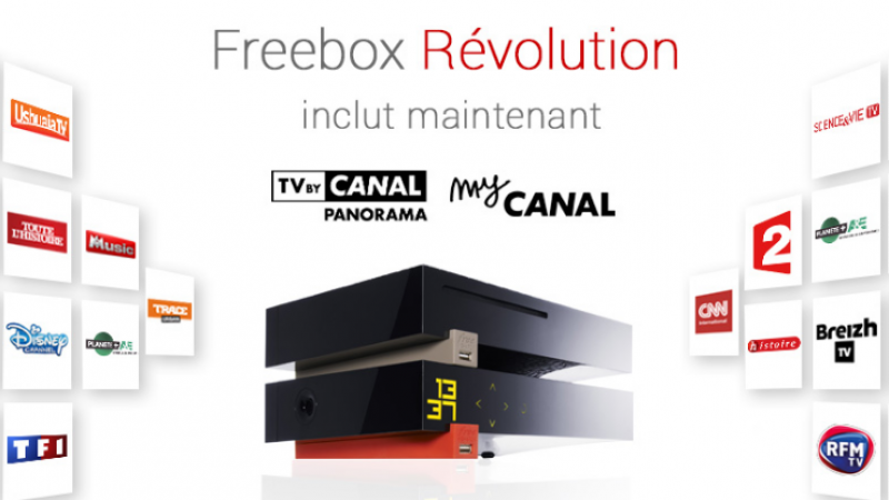 Toutes les chaînes Canal+ sont offertes dès ce soir aux abonnés Freebox Révolution avec TV by Canal