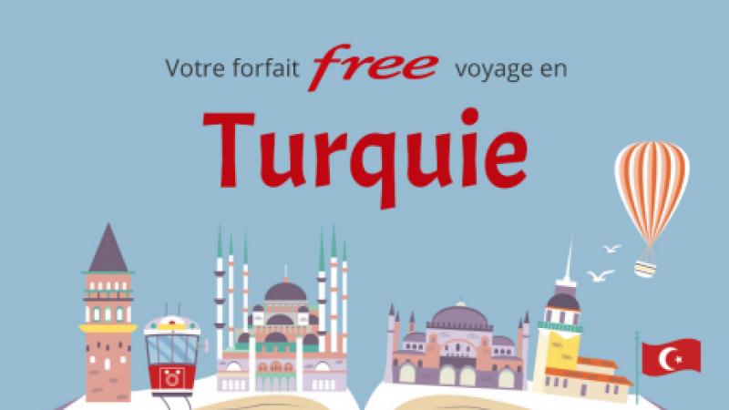 Free Mobile :  la Turquie est désormais incluse dans les 25Go/mois de data en roaming