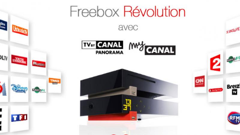 Canal+ signe un accord global avec le groupe M6, qui intègre l'offre Freebox Révolution avec TV by Canal