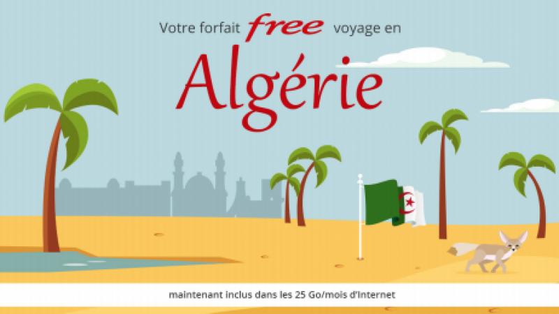Free Mobile : l'Algérie est désormais incluse dans les 25Go/mois de data en roaming, une première en France