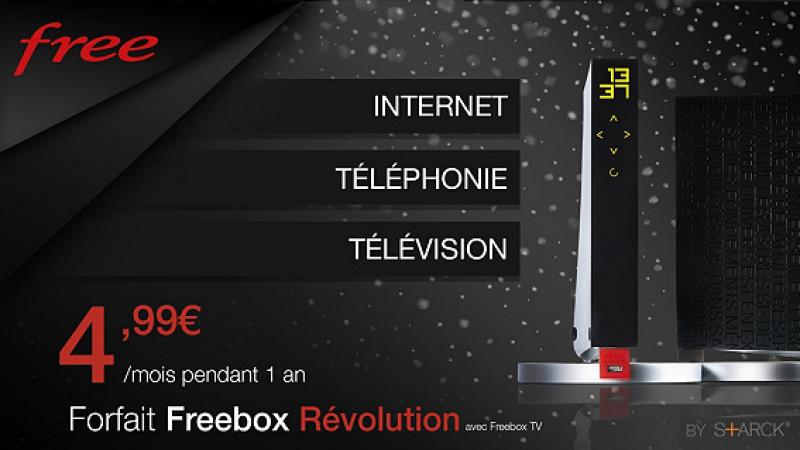 C'est parti pour la Vente Privée Freebox Révolution à 4,99€/mois durant 1 an