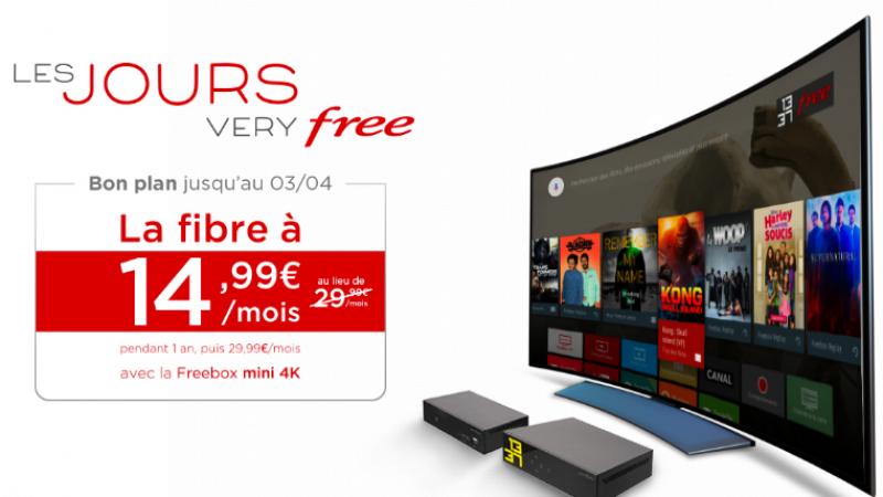 Free lance « les jours very Free » avec la Freebox Mini 4K à prix cassé