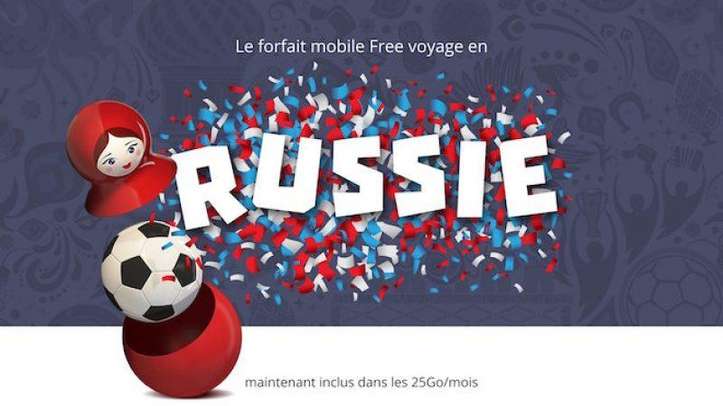 Free Mobile : la Russie est désormais incluse dans les 25Go/mois de data en roaming