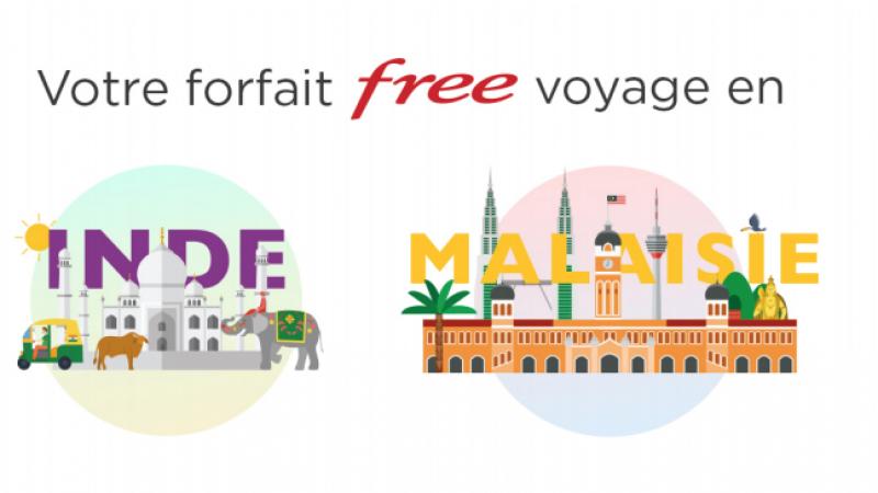 Free Mobile voyage, l'Inde et la Malaisie sont désormais inclus dans les 25 Go/mois de data en roaming