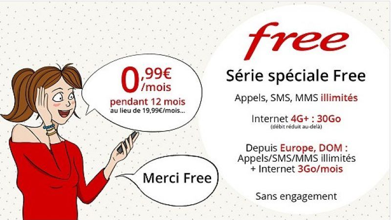 Le forfait Free Mobile 30Go à 0,99€/mois joue les prolongations sur Vente Privée