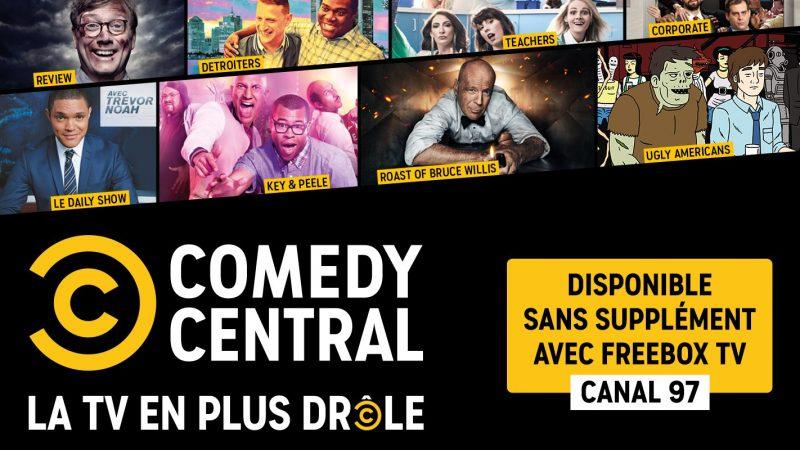 Free annonce que la nouvelle chaîne Comedy Central sera incluse sans supplément dans Freebox TV