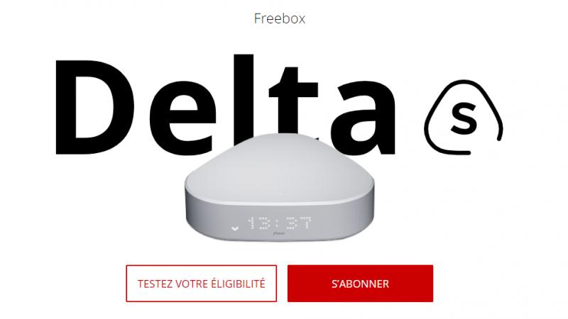 """Free lance """"Delta S"""", une offre Freebox Delta sans le Player Devialet"""