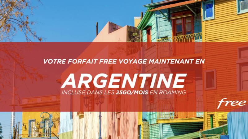 Free consolide son forfait à 19,99€ en incluant l'Argentine dans les 25 Go/mois en roaming