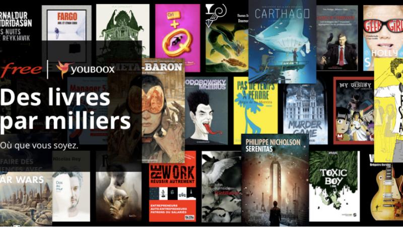 Free annonce offrir à tous ses abonnés l'accès illimité à Youboox One, une bibliothèque de plus 30 000 livres numériques