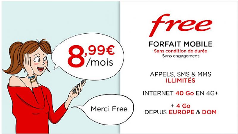 Le forfait Free Mobile 40 Go à 8,99€/mois à vie, joue les prolongations sur Vente-Privée