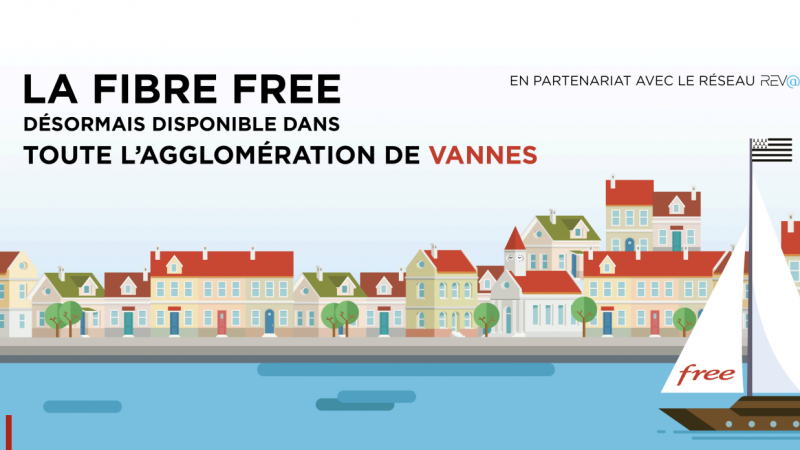 Free officialise le lancement de ses offres fibre sur le réseau de Rev@ et annonce une commercialisation prochaine dans un RIP