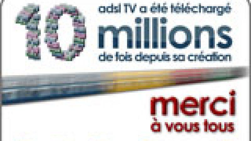 ADSL TV fête son 10 millionième téléchargement !