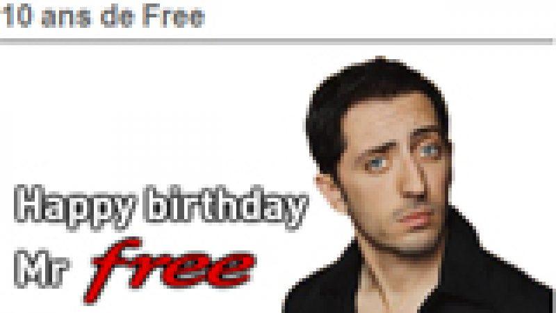 2000 invitations à l'anniversaire de Free sont offertes aux freenautes