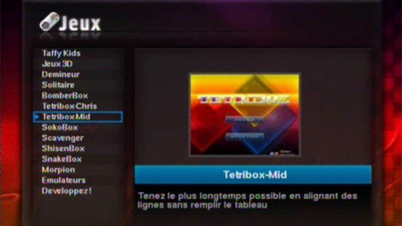 Le menu des jeux sur Freebox en détails