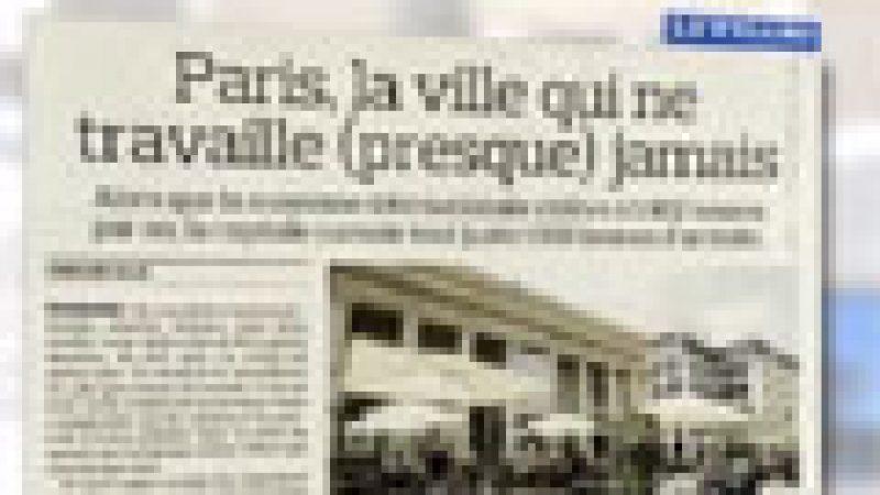 Zapping : Paris, la ville qui travaille le moins…