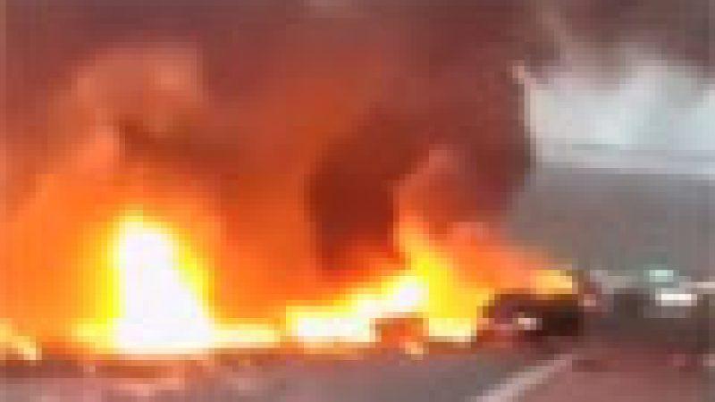 Zapping : Un hélicoptère s'écrase dans Londres…