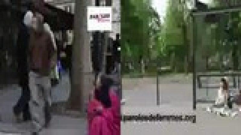 Lara Fabian joue les SDF dans les rues de Paris