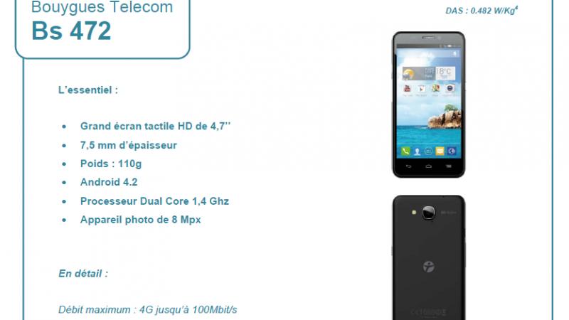 Bouygues Télécom lance un smartphone 4G à sa marque et à bas coût