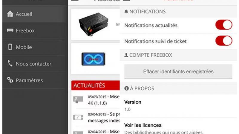 Les premières images de l'application « Assistance Free – Face to Free » sur iOS