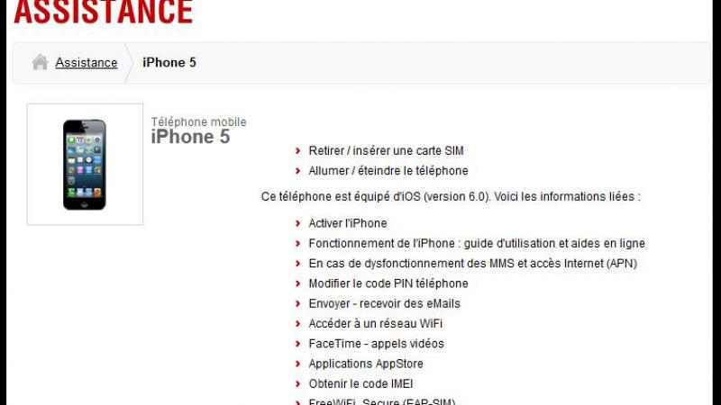 FreeMobile : L'assistance pour iPhone 5 est en ligne