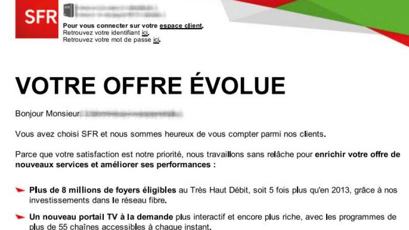 SFR annonce à ses abonnés l'augmentation du prix du triple play, mais également d'autres hausses de tarifs