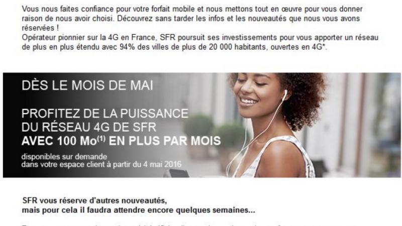 SFR utilise encore sa méthode habituelle en annonçant une bonne nouvelle puis une nouvelle hausse de tarif pour ses clients mobiles