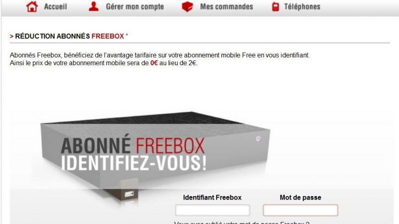 """Nouvelles fonctionnalités lors de la souscription """"avantage Freebox"""""""