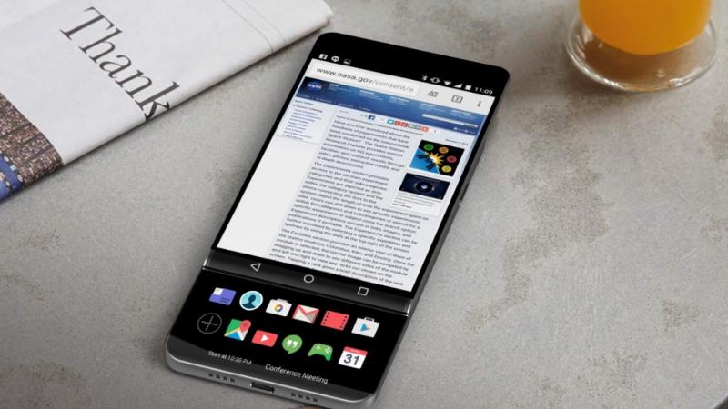 V30 : le prochain smartphone de LG pourrait être doté d'un double écran coulissant