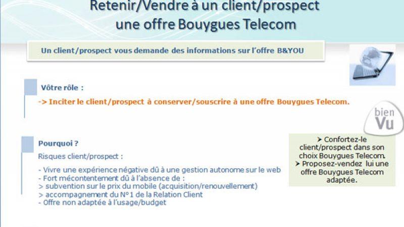 Bouygues Télécom demande à ses conseillers de ne pas recommander son offre B & You