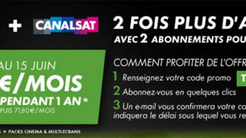 """Freebox : Nouvelle offre """"Canalsat et Canal+"""" à 25 euros/mois"""