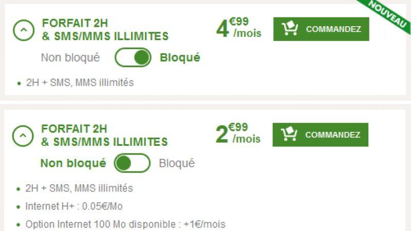 B&You lance un forfait bloqué 2H & SMS/MMS illimités à 4,99€/mois