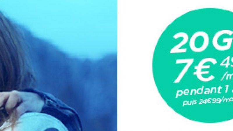 Bouygues Télécom propose un second forfait B&You 20Go à 7.49 euros/mois pendant 1 an