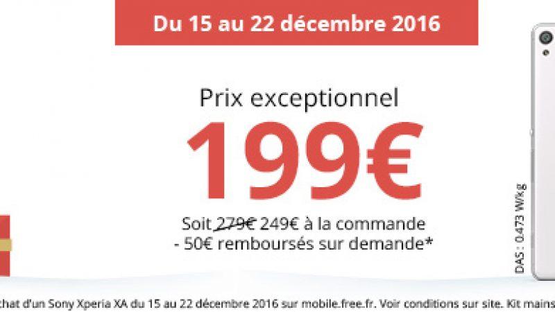 Free lance une offre spéciale sur le Sony Xperia XA