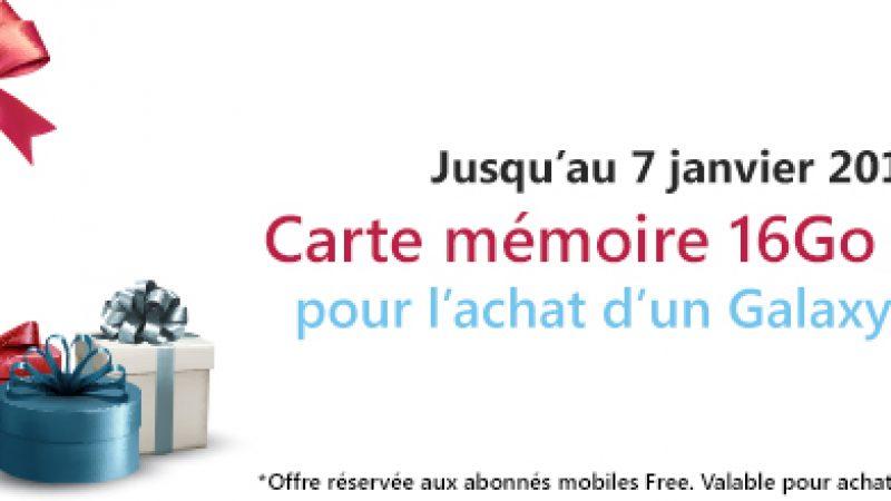 Offre abonnés Free: une carte 16Go offerte pour l'achat d'un Galaxy Ace 4