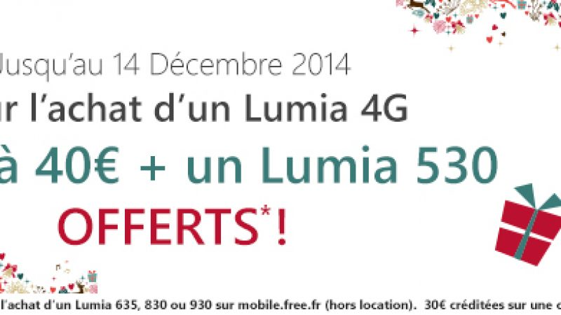 Free Mobile : pour l'achat d'un Lumia 4G, un autre smartphone vous est offert