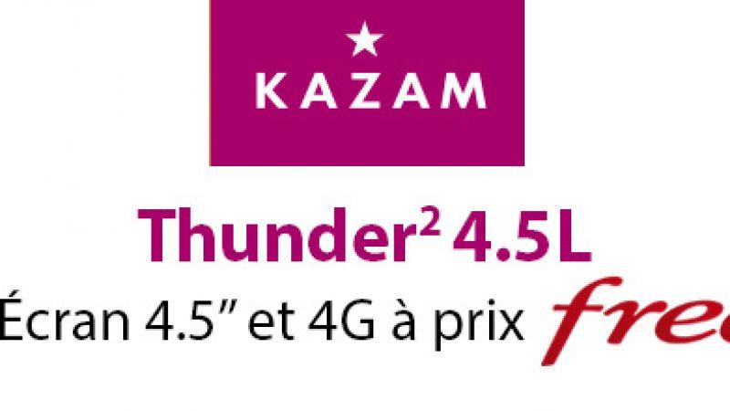 Kazam Thunder 2 4.5L, un mobile 4G à un prix totalement Free
