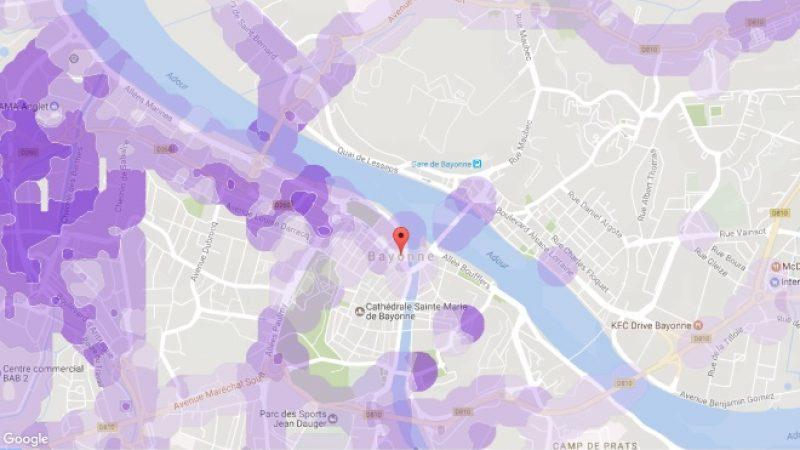 Couverture et débit 4G Free Mobile : Focus sur Bayonne