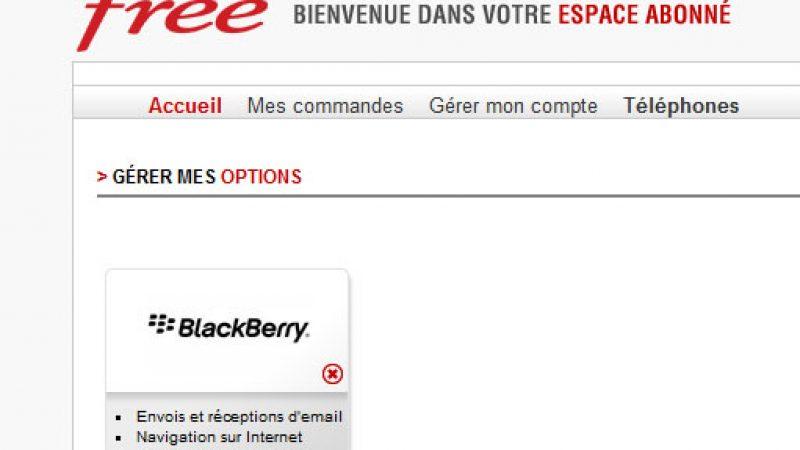 Free mobile : L'option BlackBerry est lancée